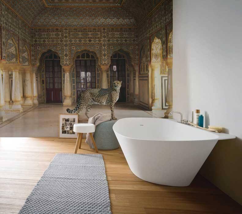 Carta da parati stanze d 39 autore for Carta parati vinilica bagno