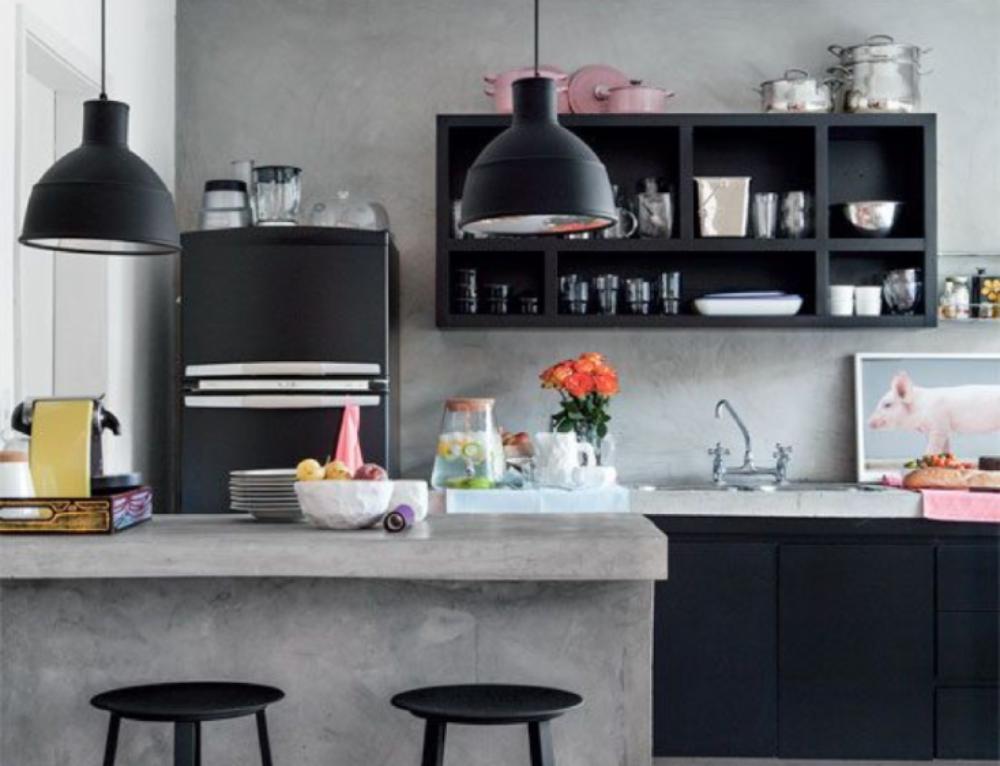 Il cemento nell'interior design