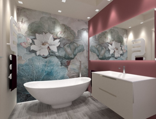 Un bagno dal tocco glamour