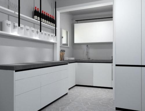 Progetto di ristrutturazione cucina in centro a Prato